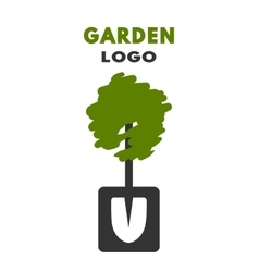 Shovel tree logo vector