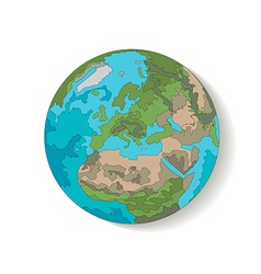 Globe planet earth vector