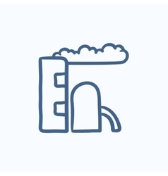 Refinery plant sketch icon vector