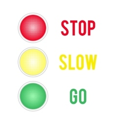 Traffic lights sign isolated on white background vector
