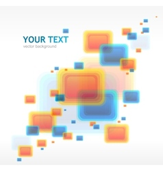 Abstract cube background vector