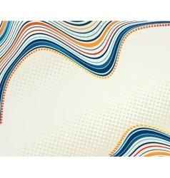 Abstract retro dots halftone wave vector