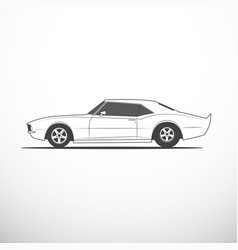 american muscle car vector image vector image