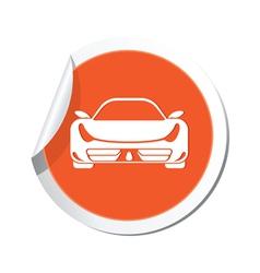 car ORANGE LABEL vector image vector image