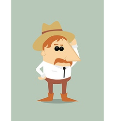 Cartoon cowboy vector