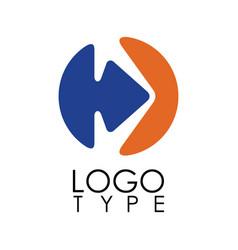 circle arrow right logo vector image vector image