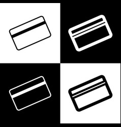 Credit card symbol for download black and vector