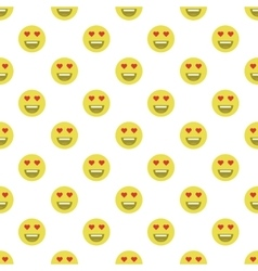 Cute smiley face in love face seamless pattern vector