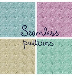 doodle seamless patterns vector image