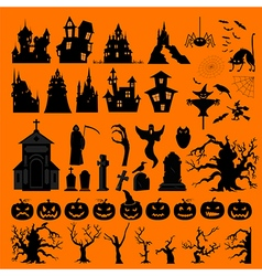 Halloween holiday constructor Graphic template vector image vector image