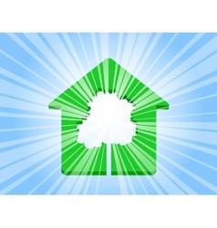 house tree ray vector image
