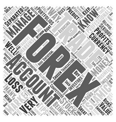 Islamic forex trading accounts word cloud concept vector