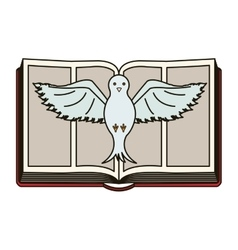 Isolated religion bible and dove design vector