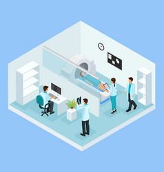 Isometric mri diagnostic process concept vector