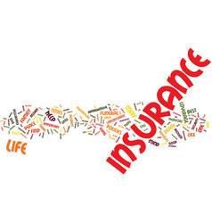 Life insurance apprehensive about insurance vector