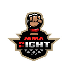 Mixed martial arts sport logo vector