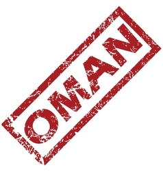 New oman rubber stamp vector