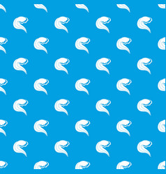 ocean or sea wave pattern seamless blue vector image