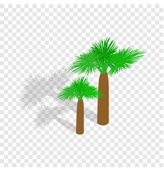 palms isometric icon vector image