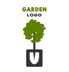 Shovel tree logo vector image vector image