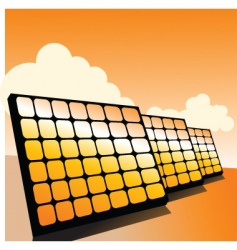 solar panels2 vector image vector image
