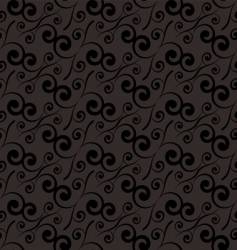 swirl repeat black vector image vector image