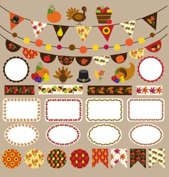 thanksgiving bunting clipart vector image vector image