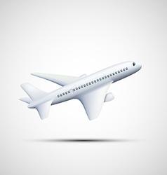 White airplane stock vector