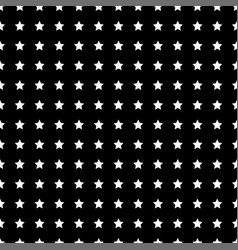 white star seamless on black background vector image vector image