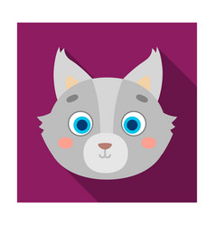 wolf muzzle icon in flat style isolated on white vector image vector image