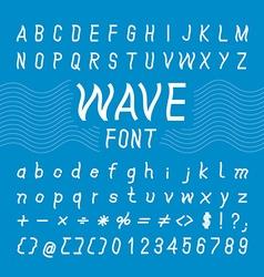 Wave font design alphabet vector