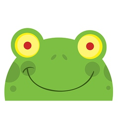 Smiling Frog Face vector image