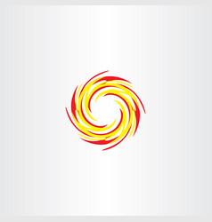Fire circle logo icon sign vector