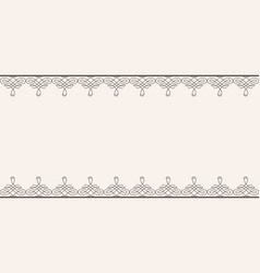 Backdrop with borders in calligraphic retro style vector