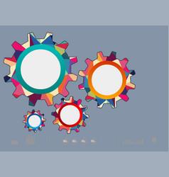 Color gear vector