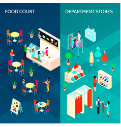 Shopping mall two vertical banners vector