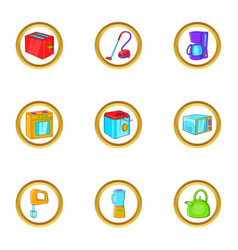 house electronics icon set cartoon style vector image
