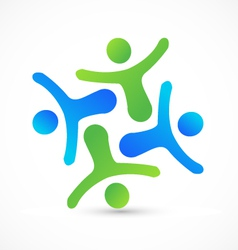 Teamwork business people logo vector