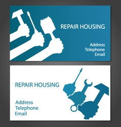 Business card for home repair vector