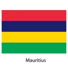 Flag of the country mauritius vector