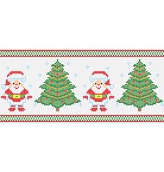 Christmas embroidery seamless texture vector