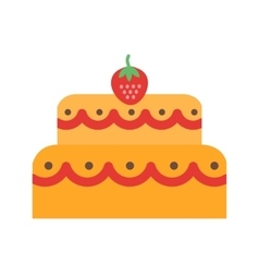 Two layered cake vector