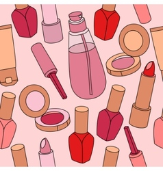 cosmetic pattern vector image
