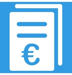 Euro catalog list icon vector
