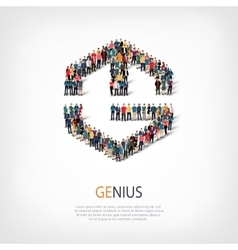 Genius people sign 3d vector