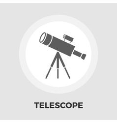 Telescope icon flat vector