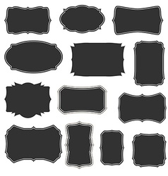 Boarders and frames basic set vector