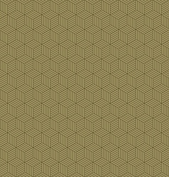Abstract geometric hexagon cube seamless patterns vector image vector image