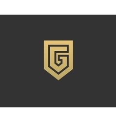Abstract letter g shield logo design template vector