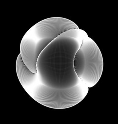 abstract white mesh on dark vector image vector image